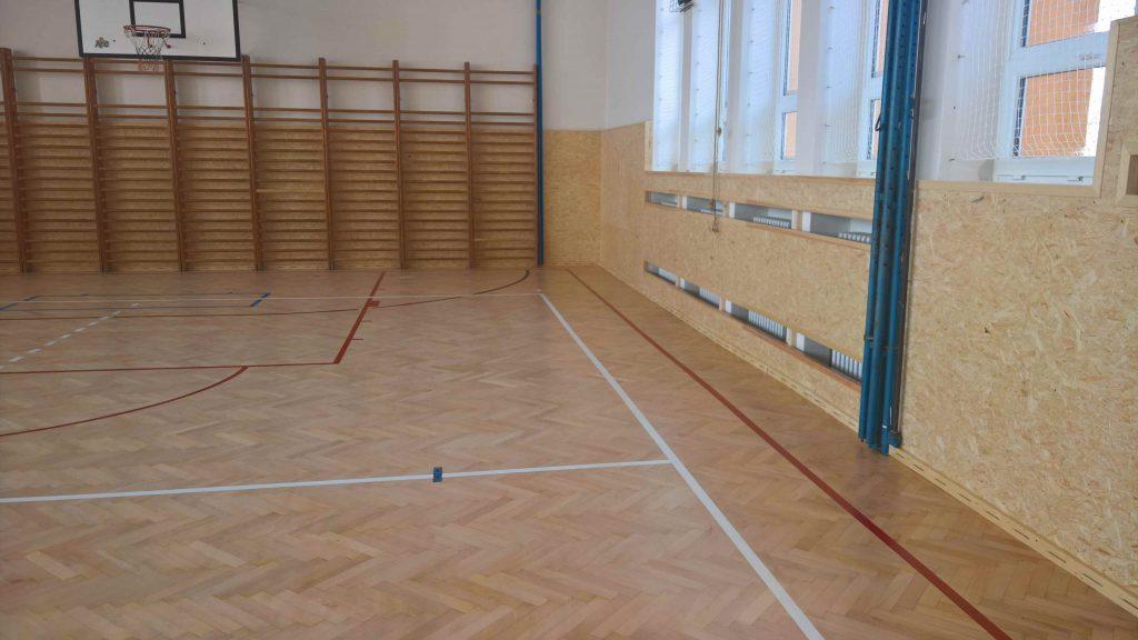 Renovace podlahy ZŠ Deblín
