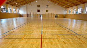 Rekonstrukce podlahy, sportovní hala v Brně