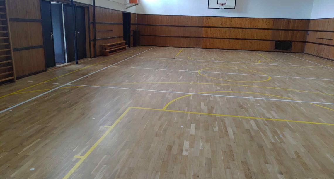 Renovace sportovní podlahy Brno