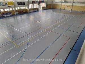 Sportovní podlaha Taraflex, sportovní hala Pohořelice
